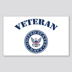 U. S. Navy Veteran Sticker (Rectangle)
