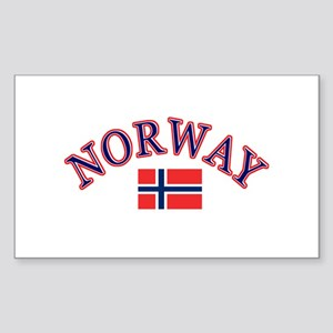 Norway Soccer Designs Sticker (Rectangle)