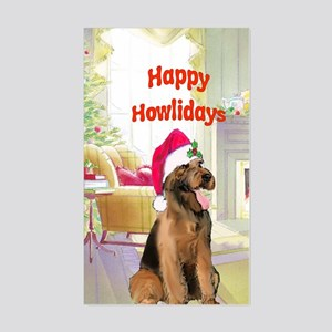 2-airedale card Sticker (Rectangle)