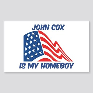 JOHN COX is my homeboy Rectangle Sticker