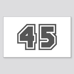 Number 45 Rectangle Sticker