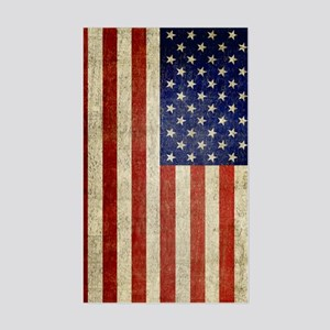5x8_journal_old_american_flag_ Sticker (Rectangle)