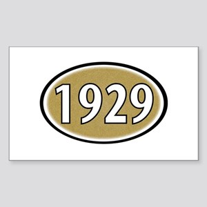 1929 Oval Rectangle Sticker