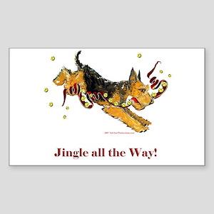 Lakeland Terrier Holiday Dog! Sticker (Rectangular