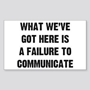 What Communicate Sticker (Rectangle)