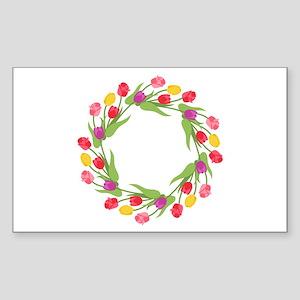Tulips Wreath Sticker