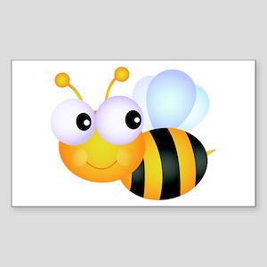 Cute Cartoon Bumble Bee Sticker (Rectangle)