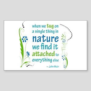 Nature Atttachment Rectangle Sticker