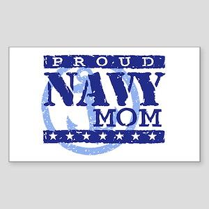 Proud Navy Mom Rectangle Sticker