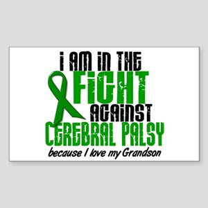 In The Fight Against CP 1 (Grandson) Sticker (Rect