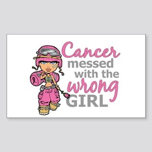 Combat Girl Breast Cancer Sticker (Rectangle)