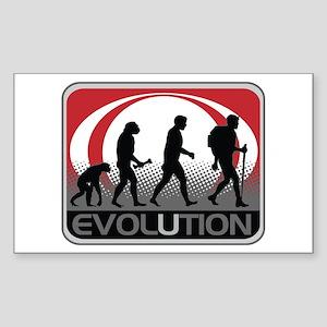Evolution Hiker Sticker (Rectangle)