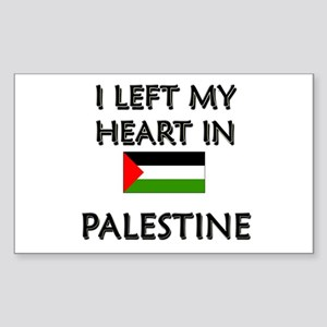 I Left My Heart In Palestine Rectangle Sticker