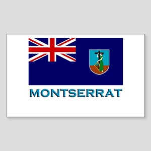 Montserrat Flag Stuff Rectangle Sticker