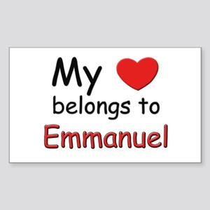 My heart belongs to emmanuel Rectangle Sticker