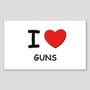 I love guns Rectangle Sticker