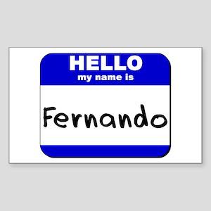 hello my name is fernando Rectangle Sticker