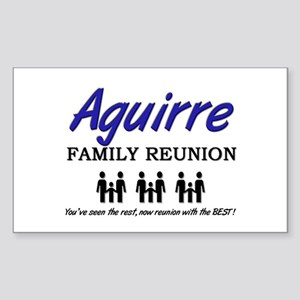 Aguirre Family Reunion Rectangle Sticker