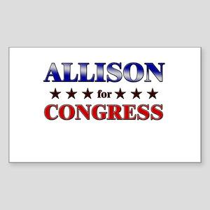 ALLISON for congress Rectangle Sticker