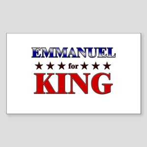 EMMANUEL for king Rectangle Sticker