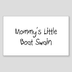 Mommy's Little Boat Swain Rectangle Sticker