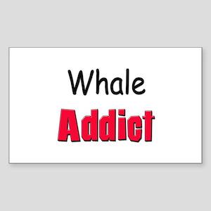 Whale Addict Rectangle Sticker