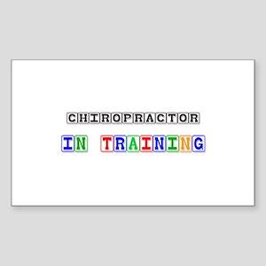 Chiropractor In Training Rectangle Sticker