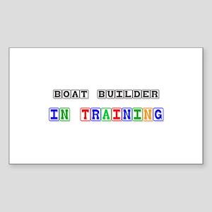 Boat Builder In Training Rectangle Sticker