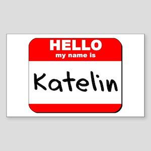 Hello my name is Katelin Rectangle Sticker