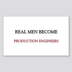 Real Men Become Production Engineers Sticker (Rect