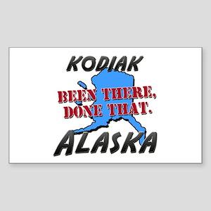 kodiak alaska - been there, done that Sticker (Rec