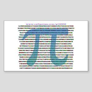 1000 digits of PI - Rectangle Sticker