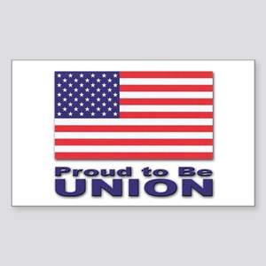 Proud to be Union Rectangle Sticker