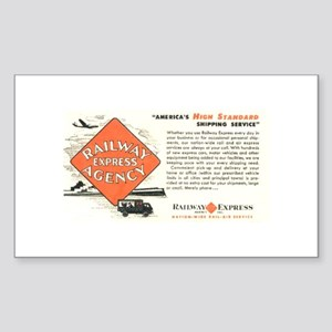 Railway Express Agency 1948 Rectangle Sticker
