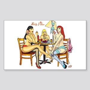 Strip Poker Rectangle Sticker