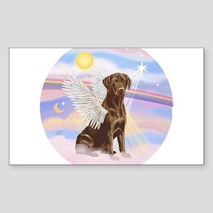 ORN - Clouds - Lab Angel (Choc) Sticker (Rectangle
