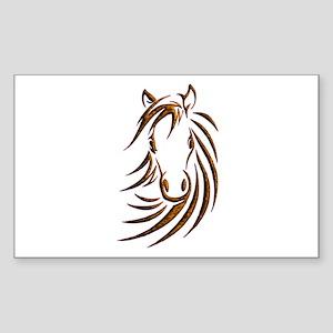 Brown Horse Head Sticker
