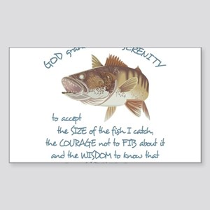 A Fishermans Prayer Sticker (Rectangle)