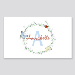 Cute Butterfly Floral Monogram Sticker