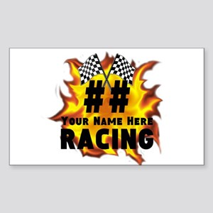 Flaming Racing Sticker