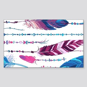 Tribal Feathers Sticker