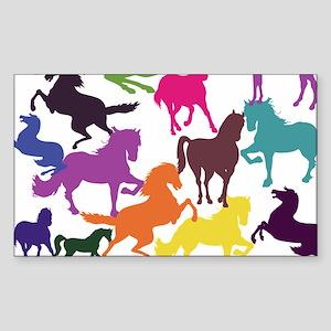 Rainbow Horses Sticker