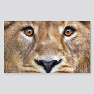 Realistic Lion Painting Sticker