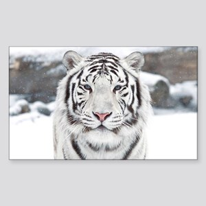 White Tiger Sticker (Rectangle)