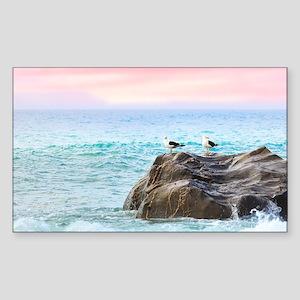 Seagulls at Sunrise Sticker
