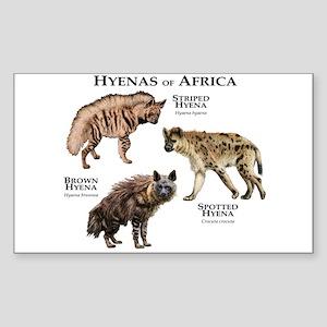 Hyenas of Africa Sticker (Rectangle)