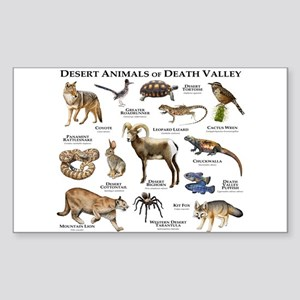 Animals of Death Valley Sticker (Rectangle)