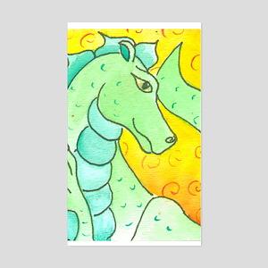 Green Dragon Rectangle Sticker