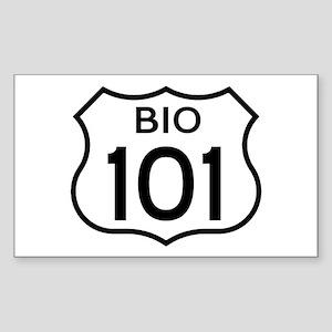 Bio 101 Rectangle Sticker