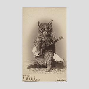 Cat_tee Sticker (Rectangle)